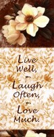 Live Well, Laugh Often, Love Much Fine-Art Print