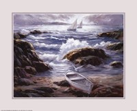 Boat By Waves Fine-Art Print
