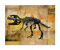 T Rex Skeleton Collage Fine-Art Print