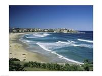 High angle view of a beach, Bondi Beach, Sydney, New South Wales, Australia Fine-Art Print