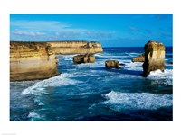 Rock formations on the coast, Port Campbell National Park, Victoria, Australia Fine-Art Print