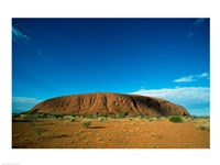 Rock formation on a landscape, Ayers Rock, Uluru-Kata Tjuta National Park, Northern Territory, Australia Fine-Art Print