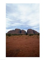 Rock formations on a landscape, Olgas, Uluru-Kata Tjuta National Park, Northern Territory, Australia Vertical Fine-Art Print
