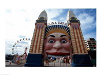 Low angle view of the entrance to an amusement park, Luna Park, Sydney, New South Wales, Australia Fine-Art Print