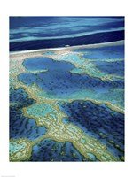 Aerial view of a coastline, Great Barrier Reef, Australia Fine-Art Print