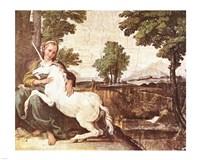 Domenichino Unicorn Pal Farnese Fine-Art Print