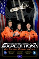 Expedition 1 Crew Poster Fine-Art Print