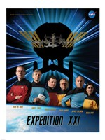 Expedition 21 Star Trek Crew Poster Fine-Art Print