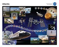 Space Shuttle Atlantis Tribute Poster Fine-Art Print