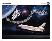 Space Shuttle Challenger Tribute Poster Fine-Art Print