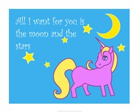 Moon and Stars Unicorn Fine-Art Print