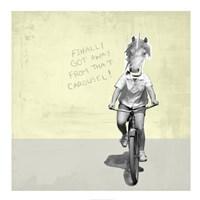 Carousel Unicorn Framed Print