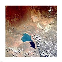 Cerros Colorados Argentina from Space Taken by Atlantis Fine-Art Print