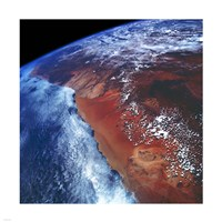 Coastal Namibia photographed from the Space Shuttle Columbia Fine-Art Print