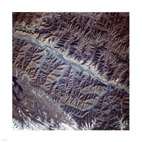 Mountain Range from Space Fine-Art Print