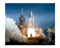 Space Shuttle Columbia launching Fine-Art Print