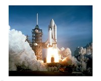 Space Shuttle Columbia launching Fine-Art Print