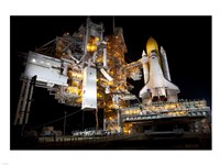 STS-135 Atlantis and payload canister on Launch Pad Fine-Art Print