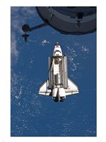 STS-135 Atlantis approaches the ISS Fine-Art Print