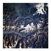 Swiss alps from space taken by Atlantis Fine-Art Print