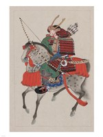 Samurai Riding a Horse Fine-Art Print