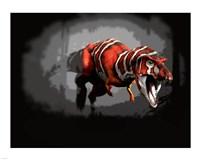 T-rex Red Series Fine-Art Print