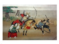 Illustrated Story of Night Attack on Yoshitsune's Residence At Horikawa, 16th Century Fine-Art Print