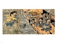 Kuniyoshi Utagawa, The ghost of Taira Tomomori, Daimotsu bay Fine-Art Print