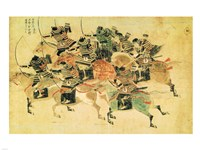 Samurais on horseback Fine-Art Print