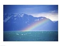 Rainbow over a sea, Resurrection Bay, Kenai Fjords National Park, Alaska, USA Fine-Art Print