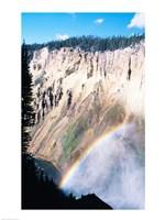 Rainbow over a canyon, Grand Canyon, Yellowstone National Park, Wyoming, USA Fine-Art Print