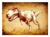 T Rex Sketch Fine-Art Print