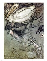 Alice in Wonderland, The Pool of Tears Fine-Art Print