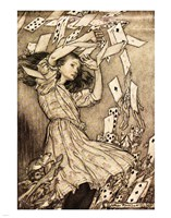 Alice in Wonderland - cards Fine-Art Print