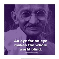Gandhi - Eye For An Eye Quote Fine-Art Print
