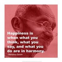 Gandhi - Happiness Quote Fine-Art Print
