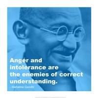 Gandhi - Intolerance Quote Framed Print