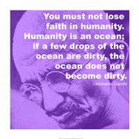 Gandhi - Ocean Quote Fine-Art Print