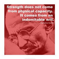 Gandhi - Strength Quote Framed Print