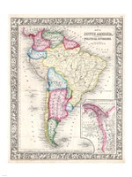 1864 Mitchell Map of South America Fine-Art Print