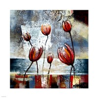 Abstract Flowers Fine-Art Print