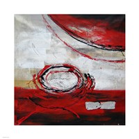 Abstract Circles II - red Fine-Art Print