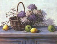 Basket of Purple Flowers Fine-Art Print