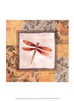 Collaged Dragonflies II Fine-Art Print
