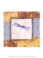 Collaged Dragonflies V Fine-Art Print
