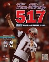 Tom Brady Most Passing Yards in New England Patriots History Overlay Fine-Art Print