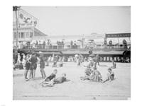 Boardwalk from the beach, Atlantic City, NJ Fine-Art Print