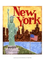 New York (A) Framed Print