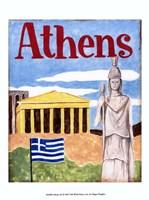 Athens (A) Framed Print