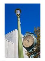 Clock on Atlantic Avenue, Atlantic City, New Jersey, USA Fine-Art Print